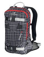 Молодежный рюкзак для катания на горных лыжах Ferrino Crusade 12 Tartan Black 922858 серый/клетка