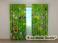 Фото шторы 3D Поляна цветов