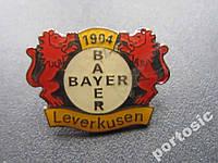 Значок футбол Байер Леверкузен тяжёлый клипса