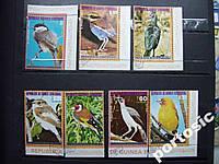 7 марок Экваториальная Гвинея птицы №1