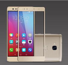 Защитное стекло Optima 2.5D на весь экран для Huawei GR5 Honor 5x золотистый