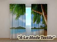 Фотошторы 3D Океан и пальмы