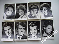 Набор открыток (8шт) артисты советского кино №8
