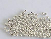 Бусины круглые серебро п.925