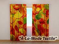 Фотошторы 3D Осенние листья