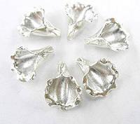 Бусины обниматели лилия серебро п.970
