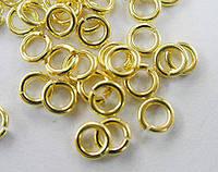 Коннектор серебро п.925, покрытие 24К золото