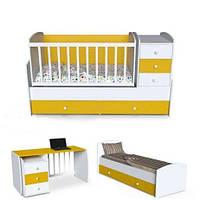 Кровать трансформер 4 в 1 от производителя  Радуга от 0 до 15 лет
