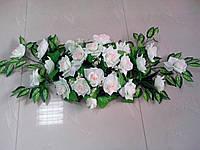 """Свадебная композиция из цветов для авто """"Чайная роза"""""""