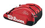 WILSON FEDERER TEAM X 12 BAG 2016 - RED