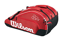 WILSON FEDERER TEAM X 12 BAG 2016 - RED