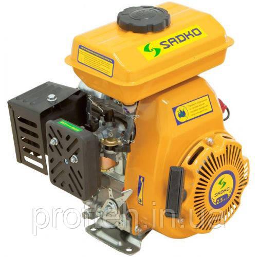 Двигатель бензиновый Садко GE-100PRO  (2,5 л.с., ручной стартер, шпонка Ø15мм, L=48,2мм)