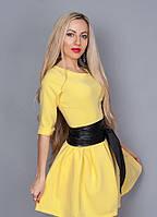 Платье нежного пастельного цвета, размер 44,46,48 желтое