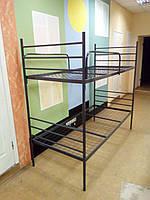 Кровать металлическая двухъярусная (бюджетный вариант)