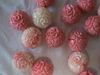 Бусины коралл розовый, 100% натуральный 10мм