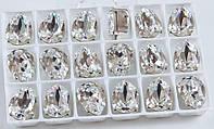 Swarovski в серебряных цапах 4320 14x10мм Австрия