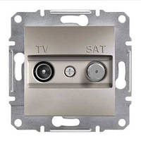 Розетка SCHNEIDER ASFORA EPH3400469 TV-SAT концевая (1 дБ) бронза