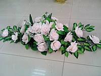 """Свадебная композиция из цветов для авто """"Розовая роза"""""""