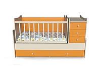 Фабричная кровать для новорожденных/подростковая 4 в 1 Панда от 0 до 15 лет