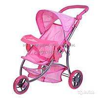 Кукольная коляска Melobo розовая 9377В-Т