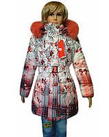 Пальто для девочек с декором
