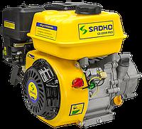 Двигатель бензиновый Садко GE-200R PRO  (6,5 л.с, шпонка Ø19мм, L=49мм,  редуктор) + доставка