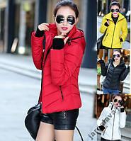 Модная короткая куртка  манжет - рукавичка