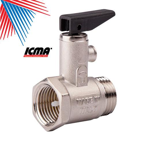 ICMA Предохранительный клапан для водонагревателя с флажком 1/2