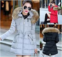 Модная куртка парка пуховик с замочками  осень зима
