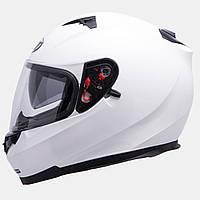 Мотошлем MT Blade SV Solid White с очками.