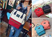 Новая модель Модная сумка рюкзак холст