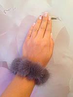 Норковый браслет на руку;  резиночка для волос