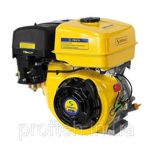 Двигатель бензиновый Садко GE-270 (9,0 л.с., ручной стартер, шпонка Ø25,5мм, L=72мм)