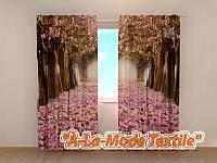Фото шторы 3D Аллея цветов