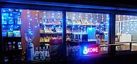 Гирлянда-штора,бахрома 2.6мх0.6м 120 синих LED ламп+розетка конектор для соединения, черный провод