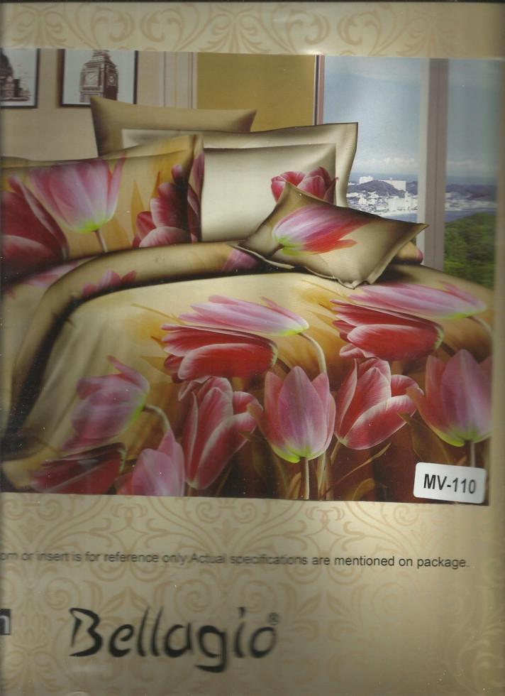Постельное белье евро Тюльпаны