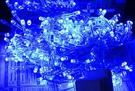 Новогодняя диодная гирлянда 300 синих LED ламп