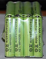 Аккумулятор ААА 1.2VNiMH 600(реал400)mAh 1шт.1лот