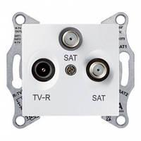 """Розетка Schneider Electric SDN3501321 TV/R/SAT кінцева, біла, """"Sedna"""""""