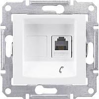 "Розетка Schneider Electric SDN4101121 телефонна, біла, ""Sedna"""