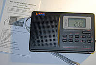 DSP радио TIVDIO V-111 FM AM,SW часы,будильник,USB