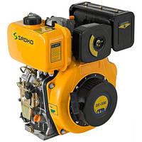 Двигатель дизельный Садко DE-300E  (6,0 л.с., шпонка Ø25мм, L=72мм, электростарт, повр. упаковка)