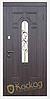 Двери входные металлические Лира со стеклом и ковкой