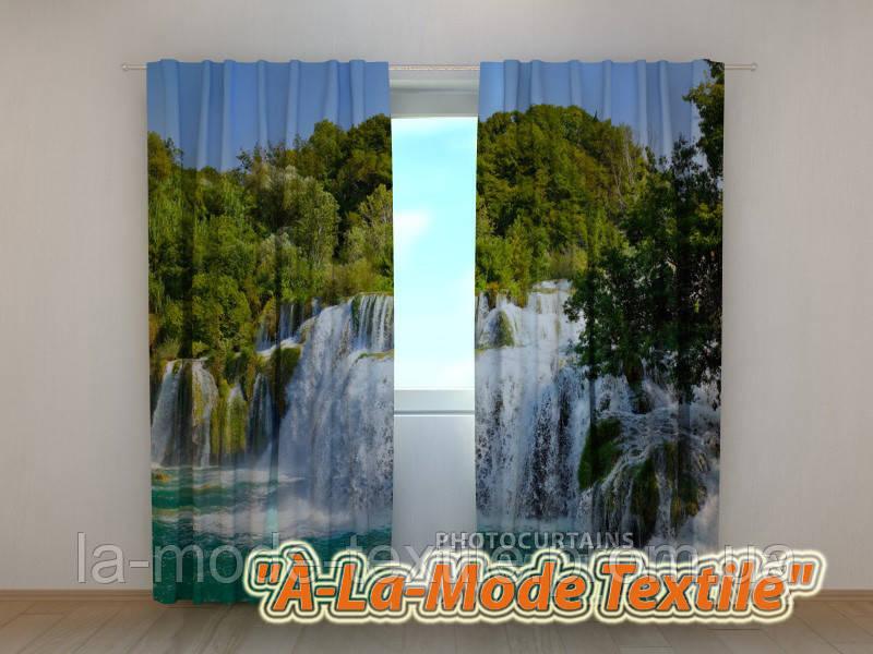 Фотошторы 3D Водопад в тропиках