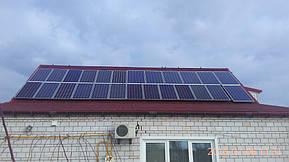Монтаж и модернизация гибридной солнечной электростанции для частного дома под Зеленый тариф мощностью 5 кВт  3