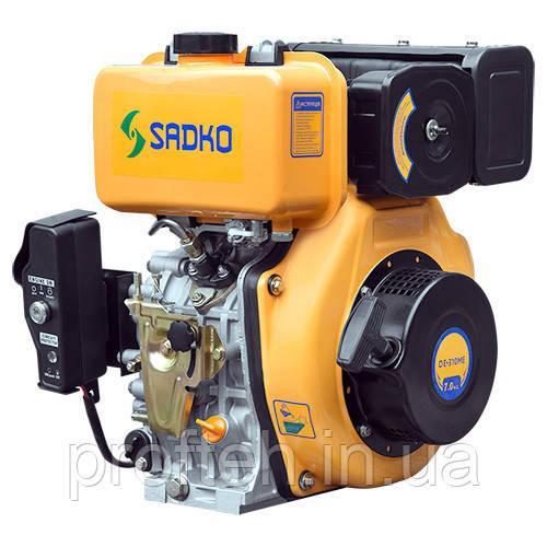 Двигатель дизельный Садко DE-310ME  (6,0 л.с., шлиц Ø25мм, L=33мм, эл.старт, повр. упаковка)