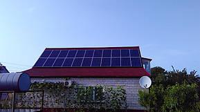 Монтаж и модернизация гибридной солнечной электростанции для частного дома под Зеленый тариф мощностью 5 кВт  6