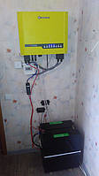 Монтаж и модернизация гибридной солнечной электростанции для частного дома под Зеленый тариф мощностью 5 кВт  7