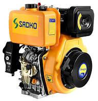 Двигатель дизельный Садко DE-420E  (10,0 л.с., шпонка Ø25мм, L=72мм, электростарт) + доставка