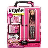 Barbie Шкаф-чемодан c одеждой и аксессуарами для кукол Барби